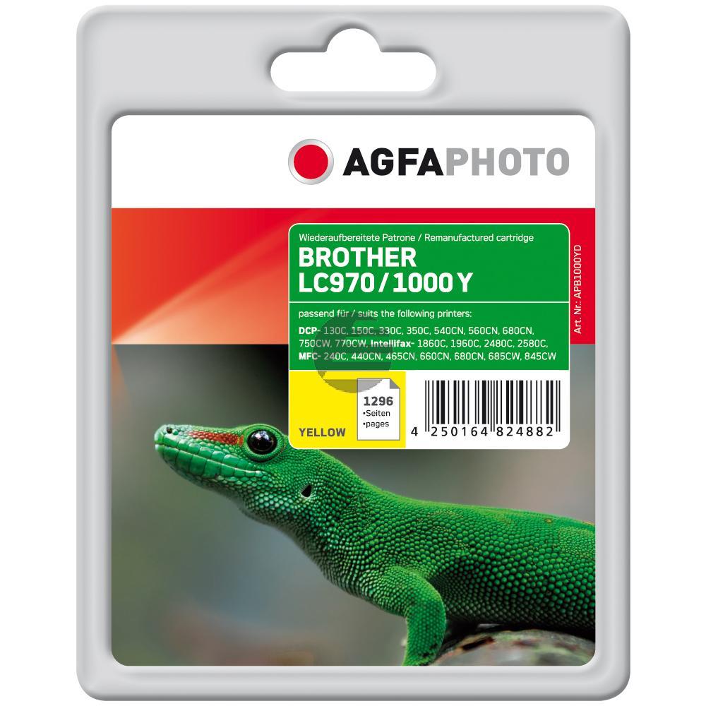 Agfaphoto Tintenpatrone gelb (APB1000YD) ersetzt LC-1000Y, LC-970Y