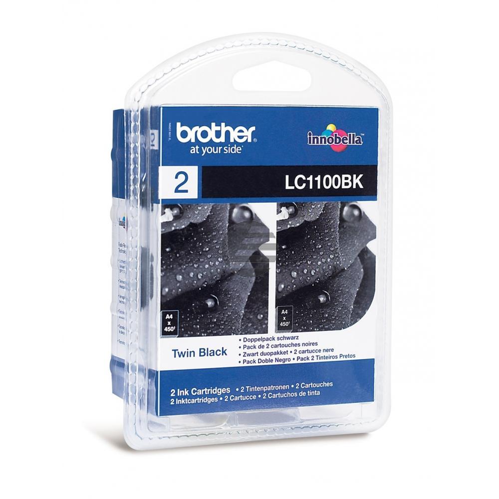 Brother Tintenpatrone 2 x schwarz (LC-1100BKBP2DR)