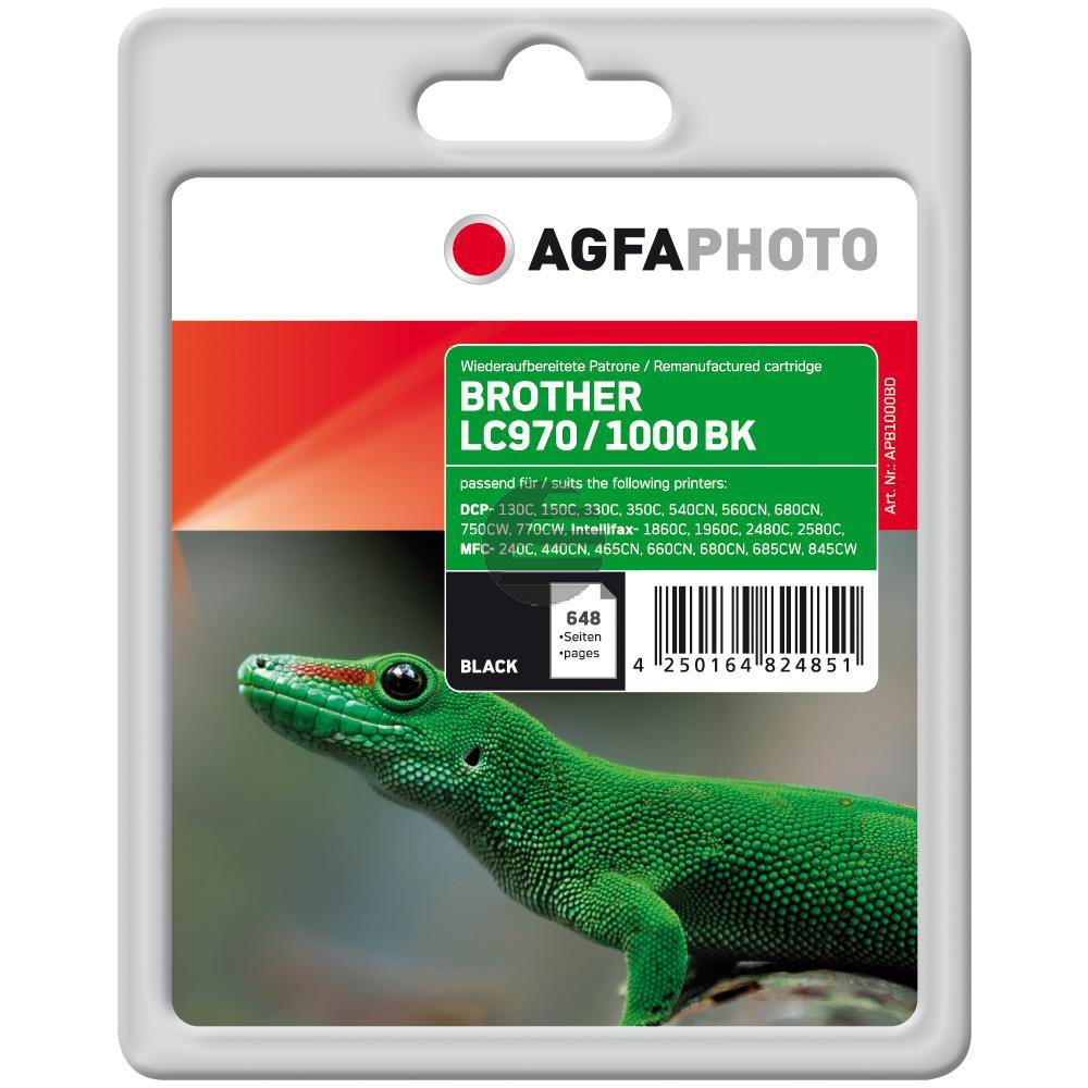 Agfaphoto Tintenpatrone schwarz (APB1000BD) ersetzt LC-1000BK, LC-970BK