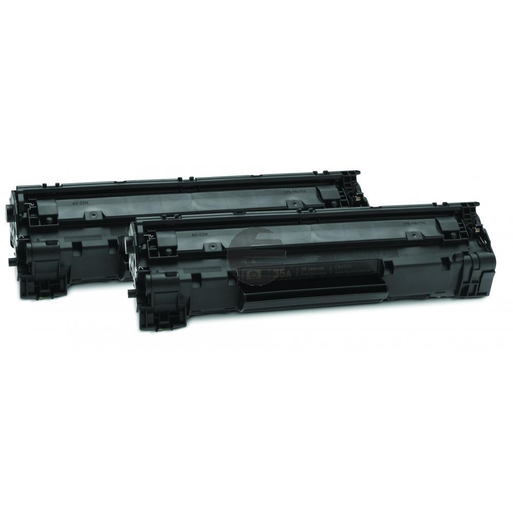 HP Toner-Kartusche 2 x schwarz (CB435AD, 35AD)