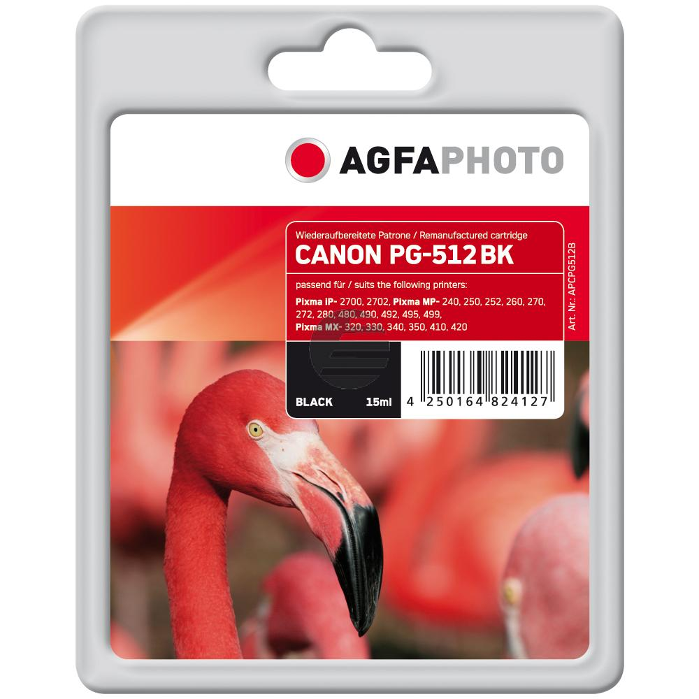 Agfaphoto Tintenpatrone schwarz HC (APCPG512B) ersetzt PG-512