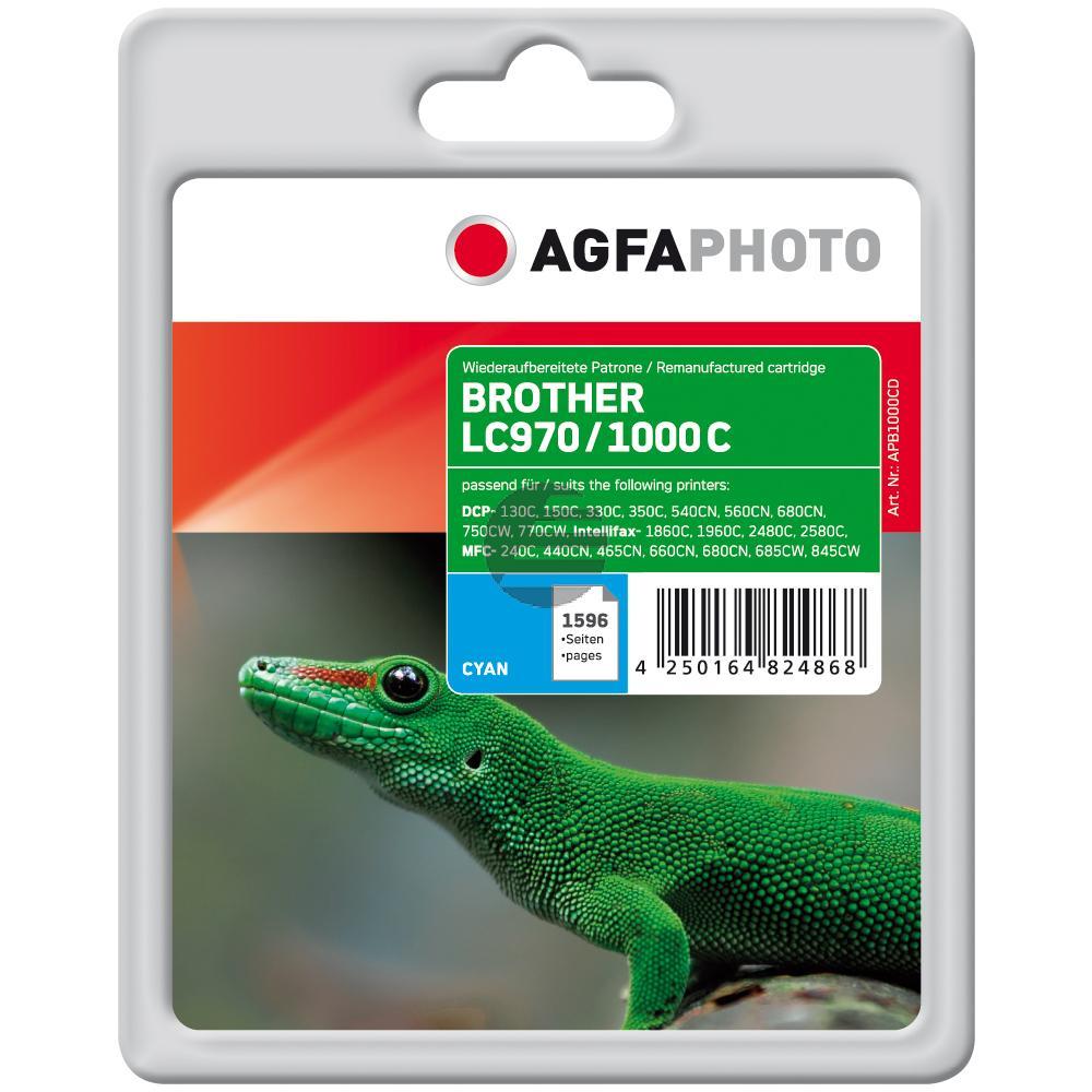 Agfaphoto Tintenpatrone (Universal) cyan (APB1000CD) ersetzt LC-1000C, LC-970C