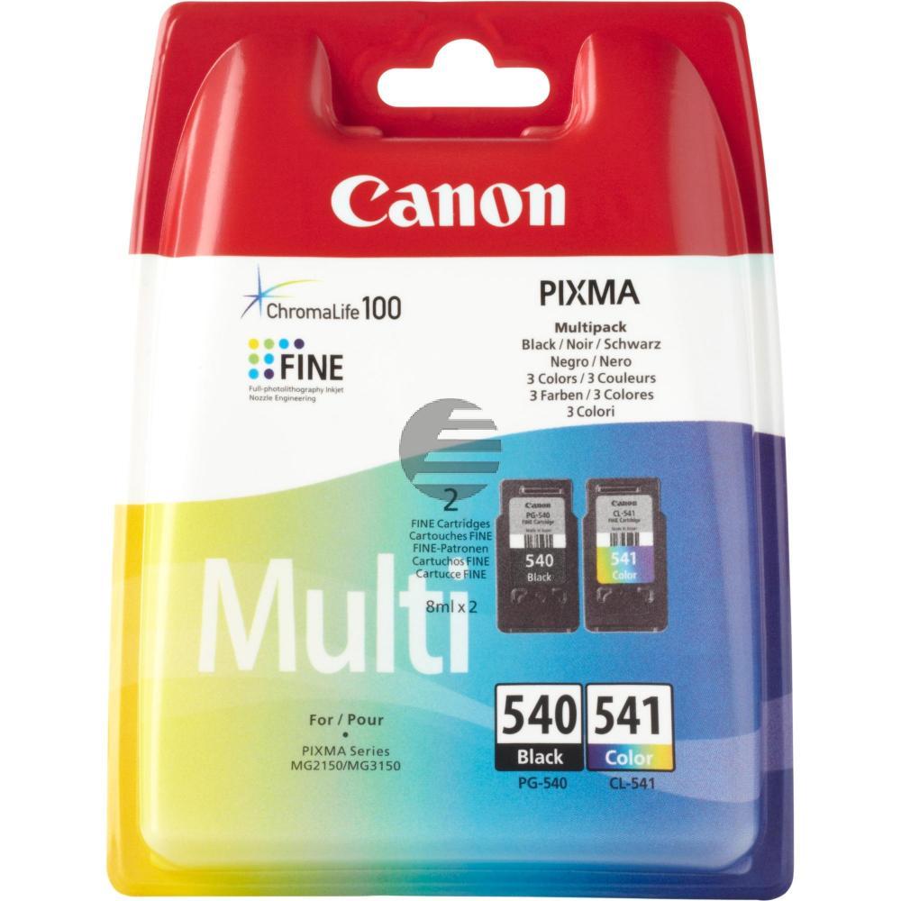 Canon Tintenpatrone cyan/gelb/magenta, schwarz (5225B006, CL-541, PG-540)