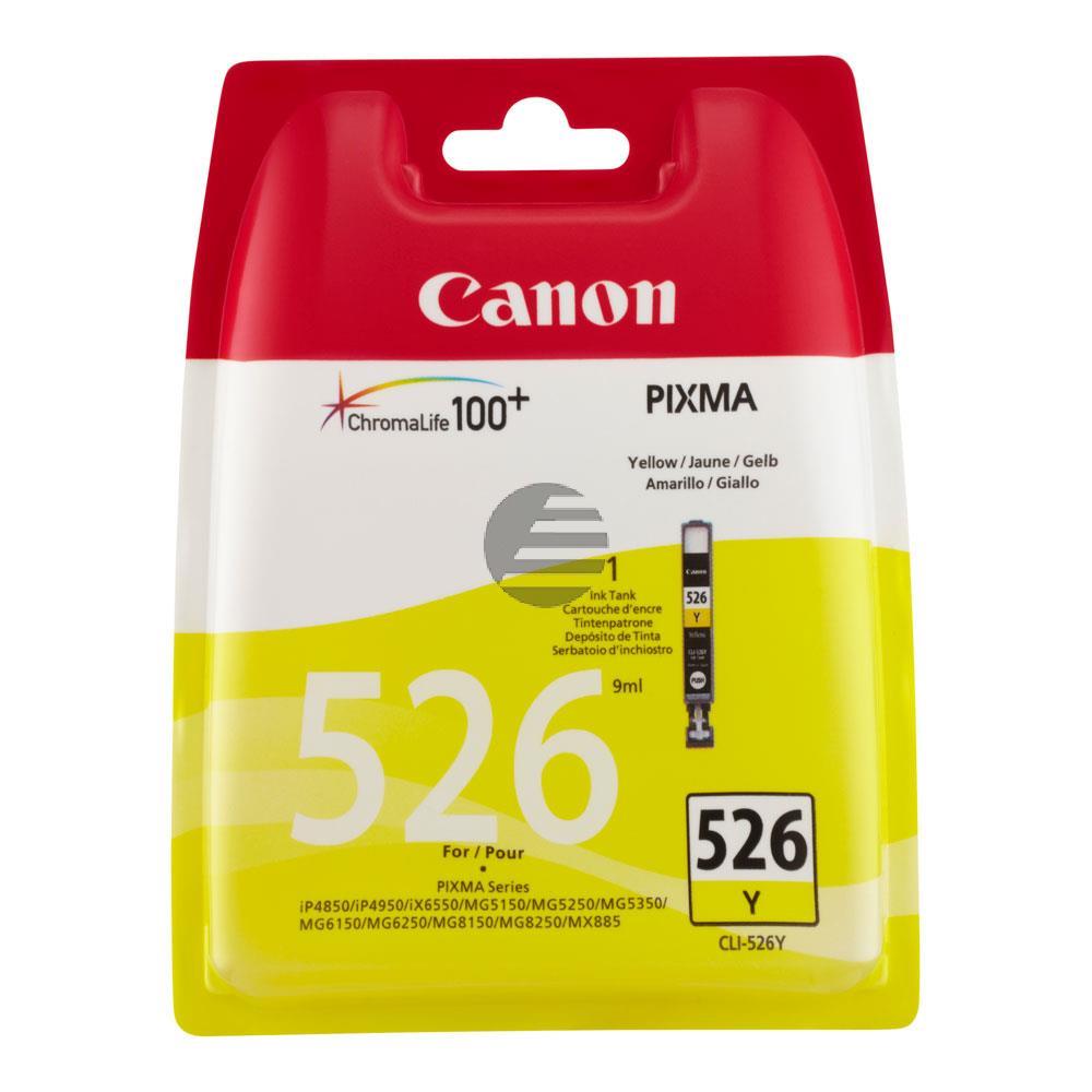 Canon Tintenpatrone gelb (4543B006, CLI-526Y)