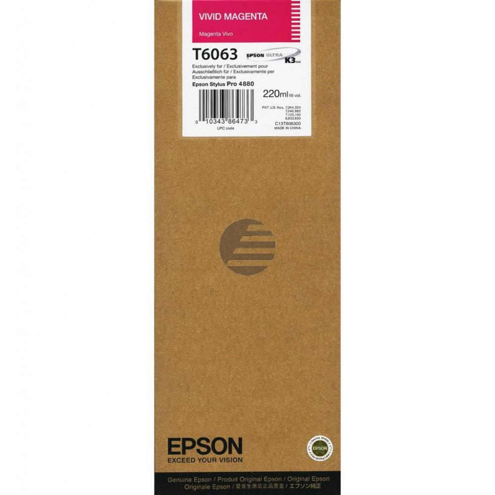 Epson Tintenpatrone magenta HC (C13T606300, T6063)