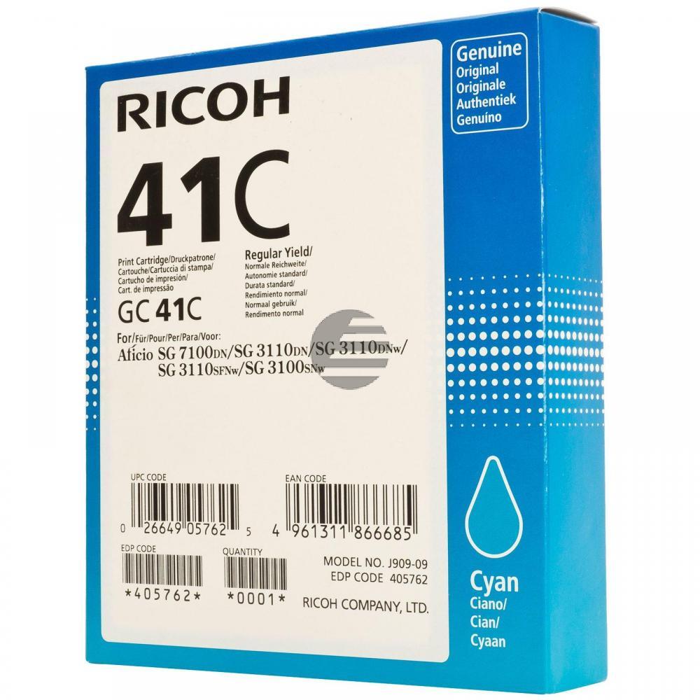 Ricoh Gel-Kartusche cyan HC (405762, GC-41CH)