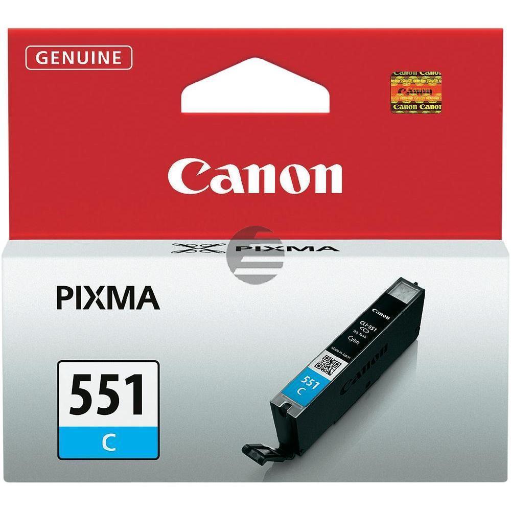 Canon Tintenpatrone cyan (6509B001, CLI-551C)