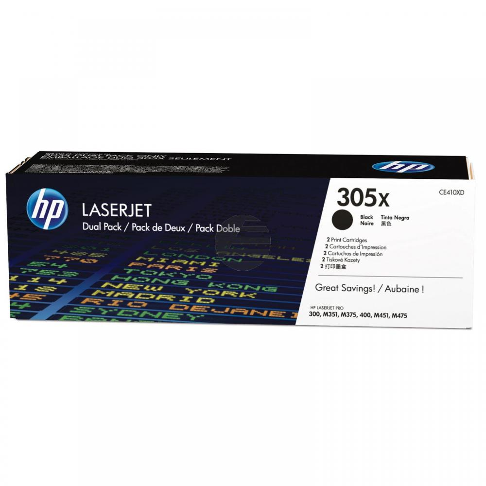 HP Toner-Kartusche 2 x schwarz (CE410XD, 305XD)