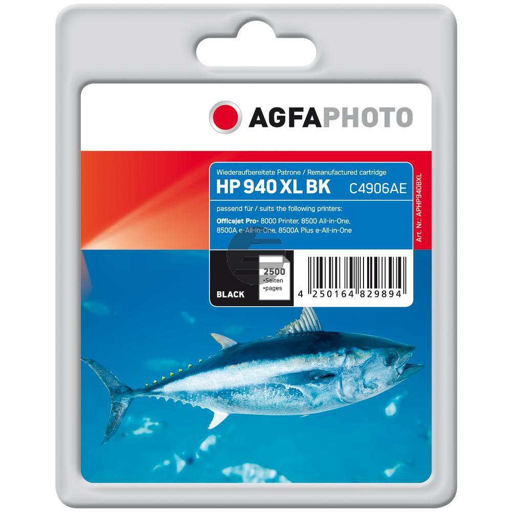 Agfaphoto Tintenpatrone schwarz HC (APHP940BXL) ersetzt 940XL