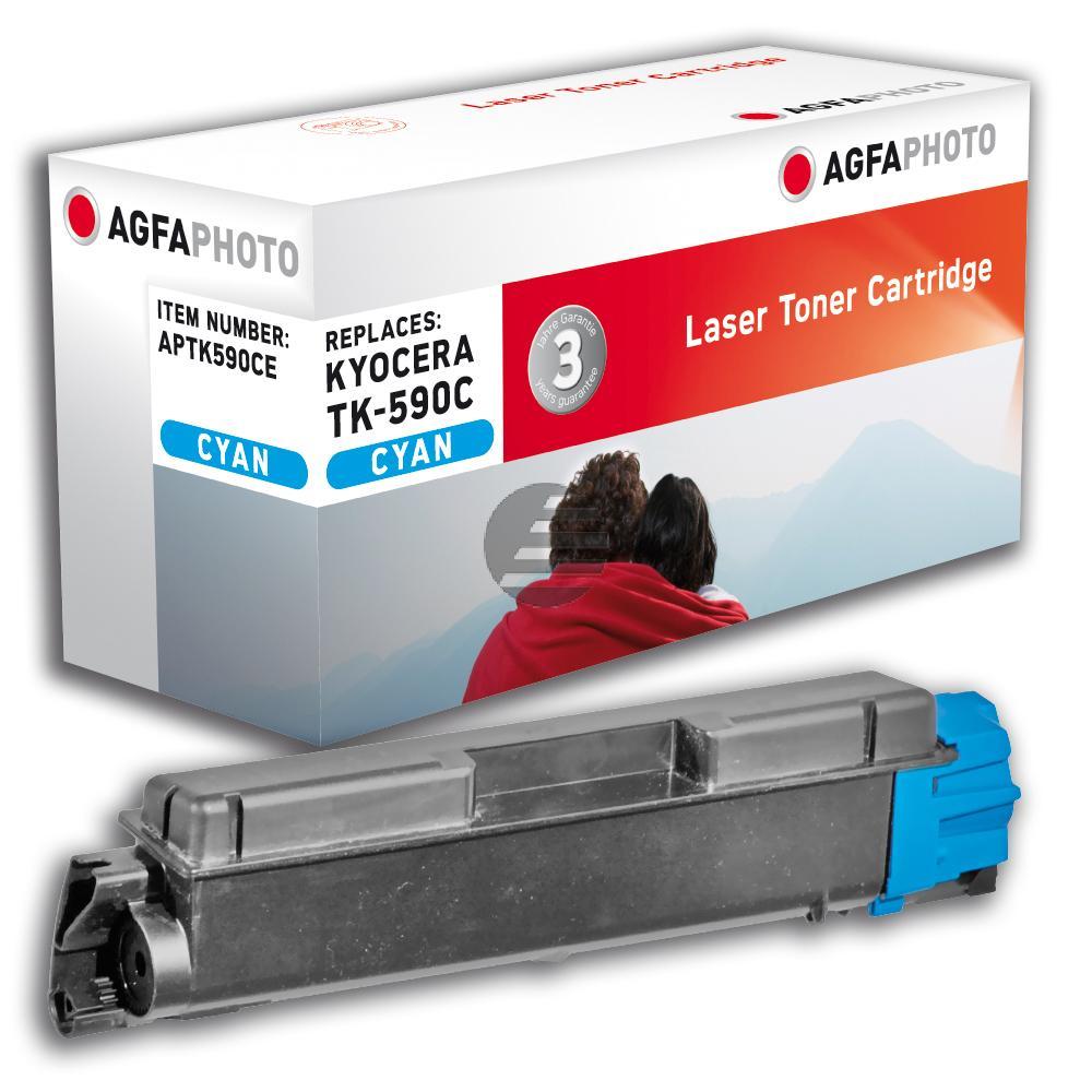 Agfaphoto Toner-Kit cyan (APTK590CE) ersetzt TK-590C, TK-C4726