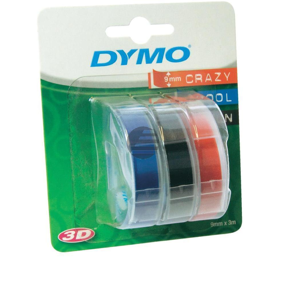 Dymo Prägeband blau, schwarz, rot (S0847750)