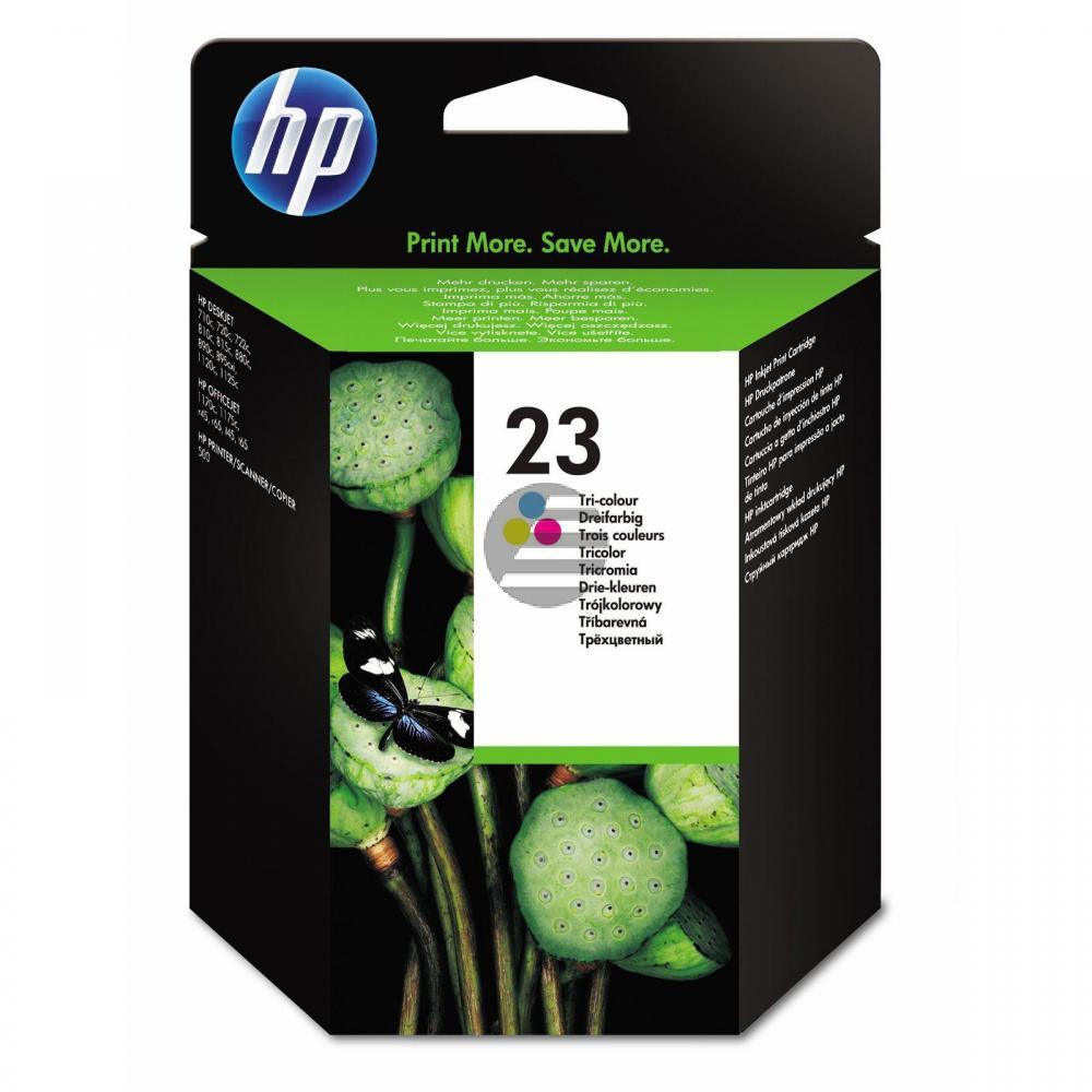 HP Tintendruckkopf cyan/gelb/magenta (C1823DE, 23)