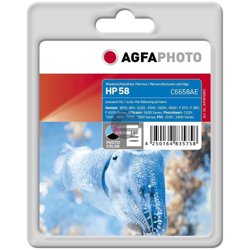 Agfaphoto Tintendruckkopf schwarz/cyan/magenta (APHP58PC) ersetzt 58