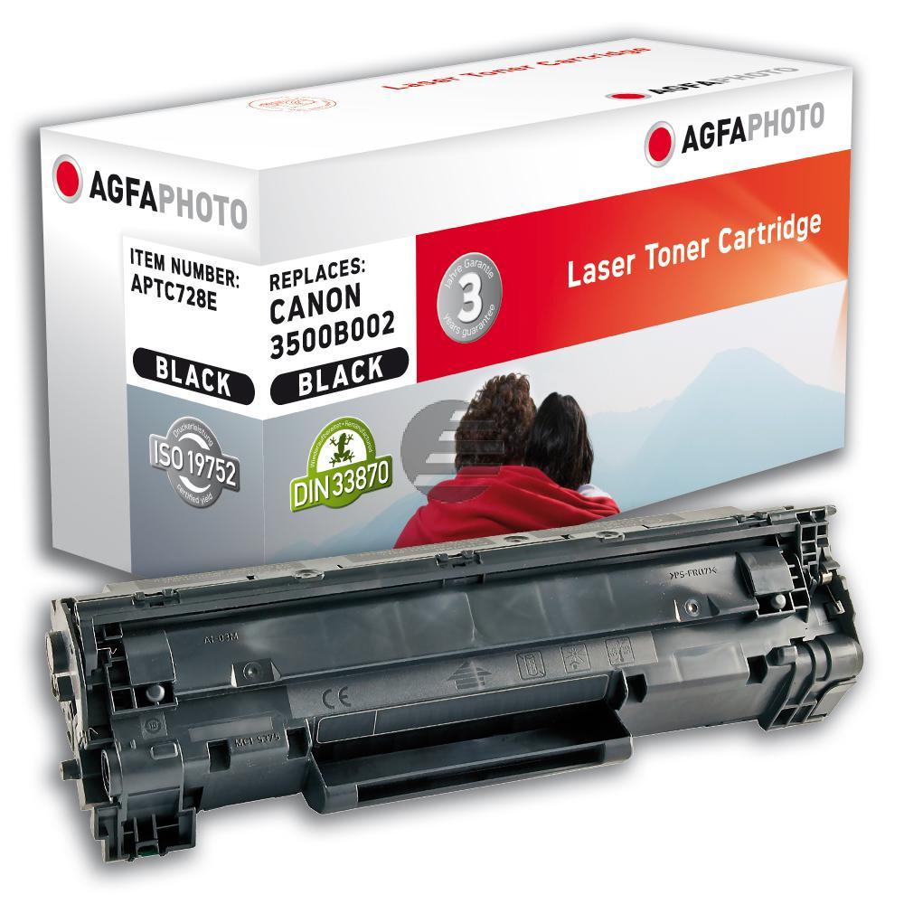 Agfaphoto Toner-Kartusche schwarz (APTC728E) ersetzt 728