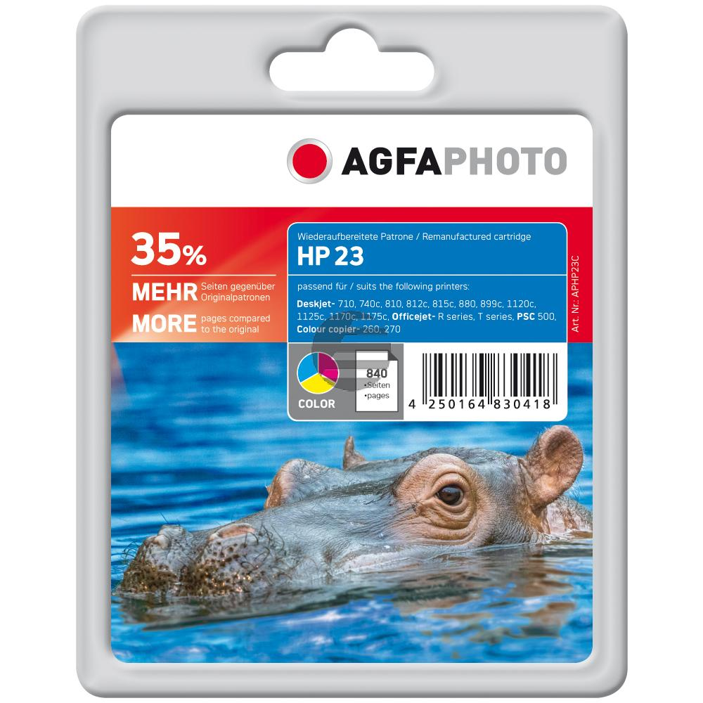 Agfaphoto Tintendruckkopf cyan/gelb/magenta (APHP23C) ersetzt 23