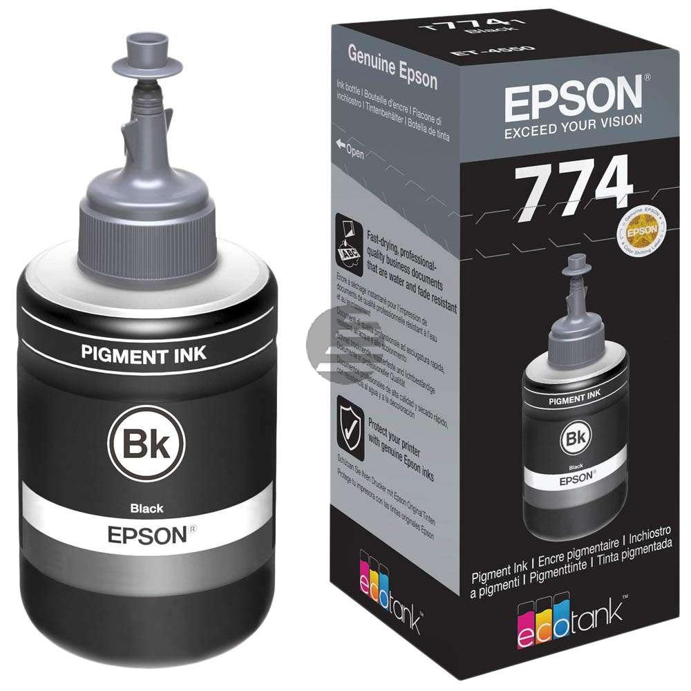 Epson Tintennachfüllfläschchen schwarz (C13T774140, T7741)
