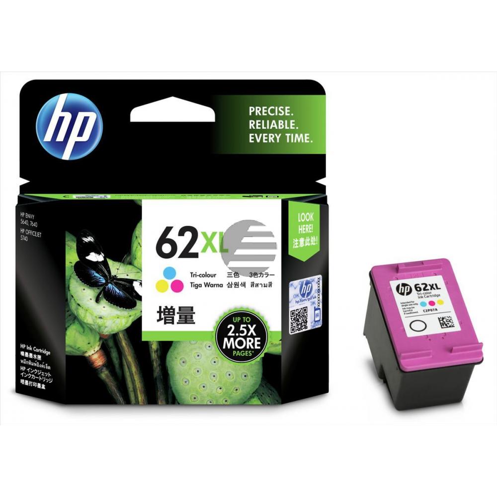 HP Tintendruckkopf cyan/gelb/magenta HC (C2P07AE#301, 62XL)