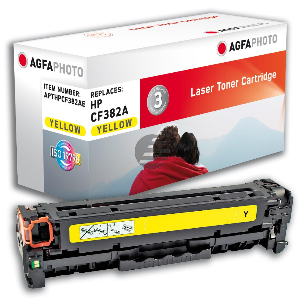 Agfaphoto Toner-Kartusche gelb (APTHPCF382AE) ersetzt 312A