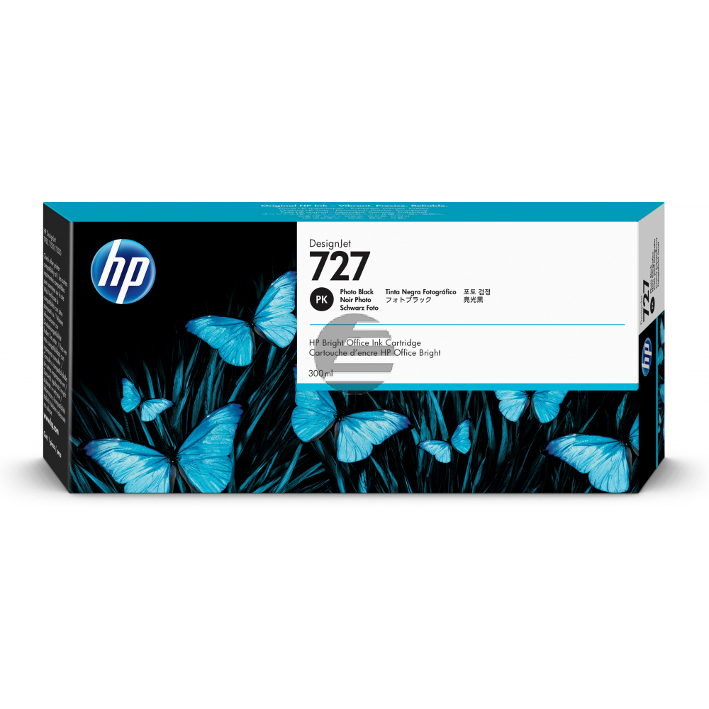 HP Tintenpatrone photo schwarz HC plus (F9J79A, 727)