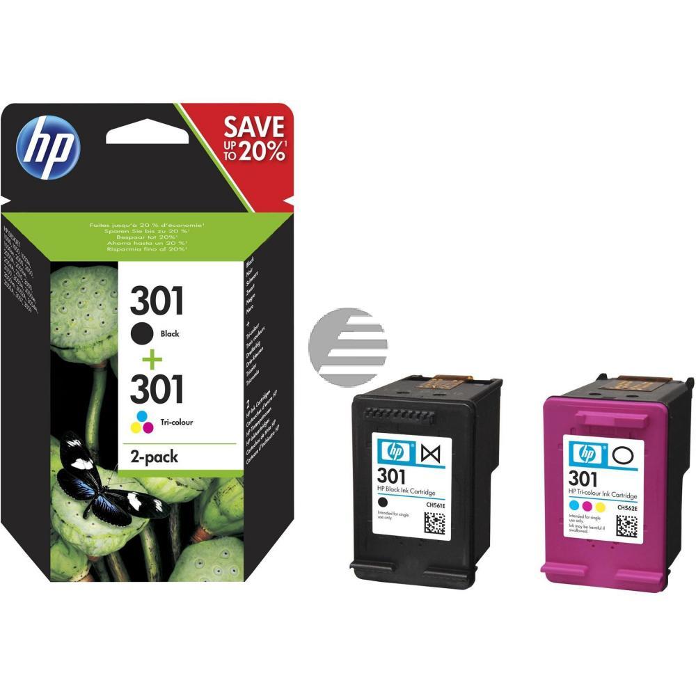 HP Tintendruckkopf cyan/gelb/magenta, schwarz (N9J72AE, 301)