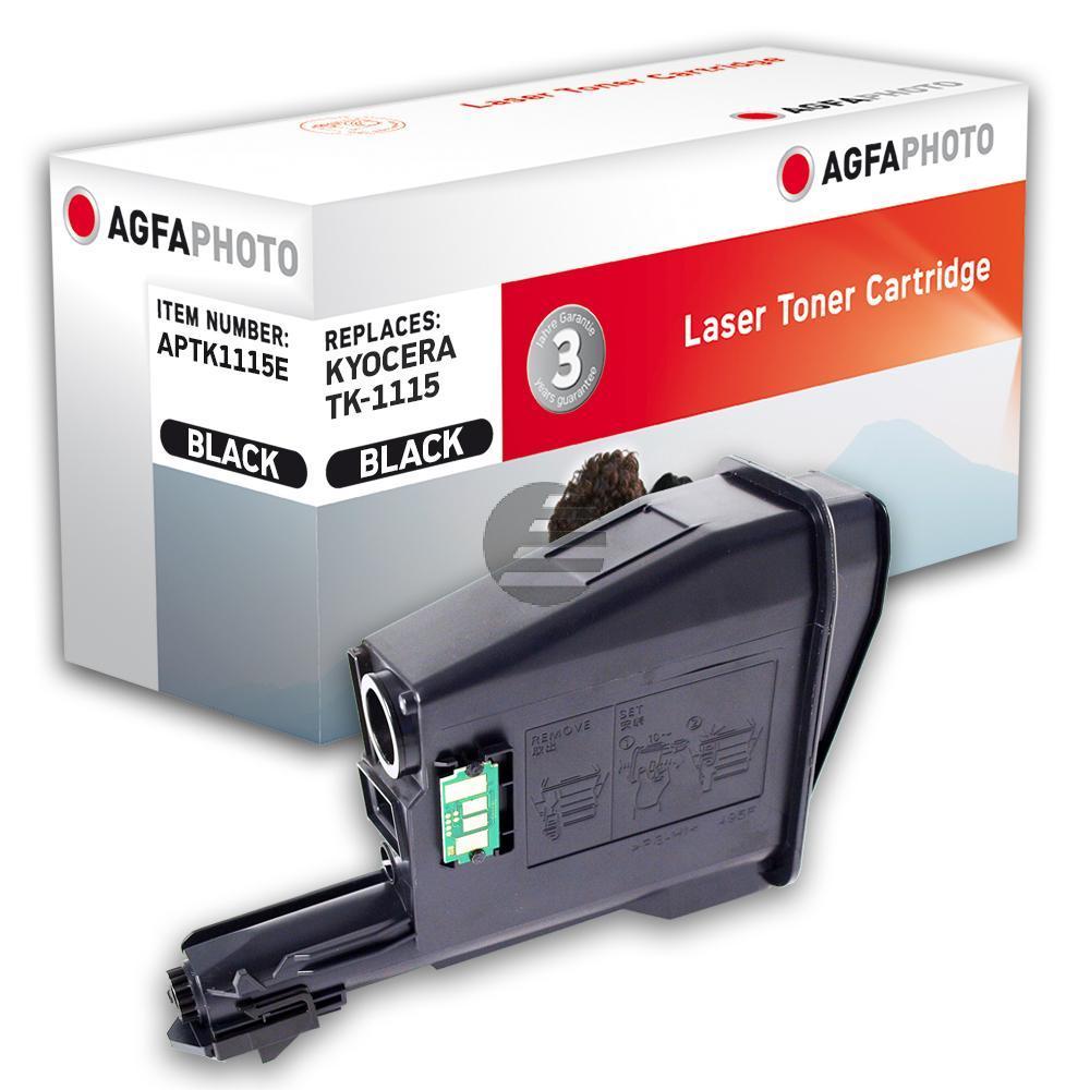 Agfaphoto Toner-Kartusche schwarz (APTK1115E) ersetzt TK-1115