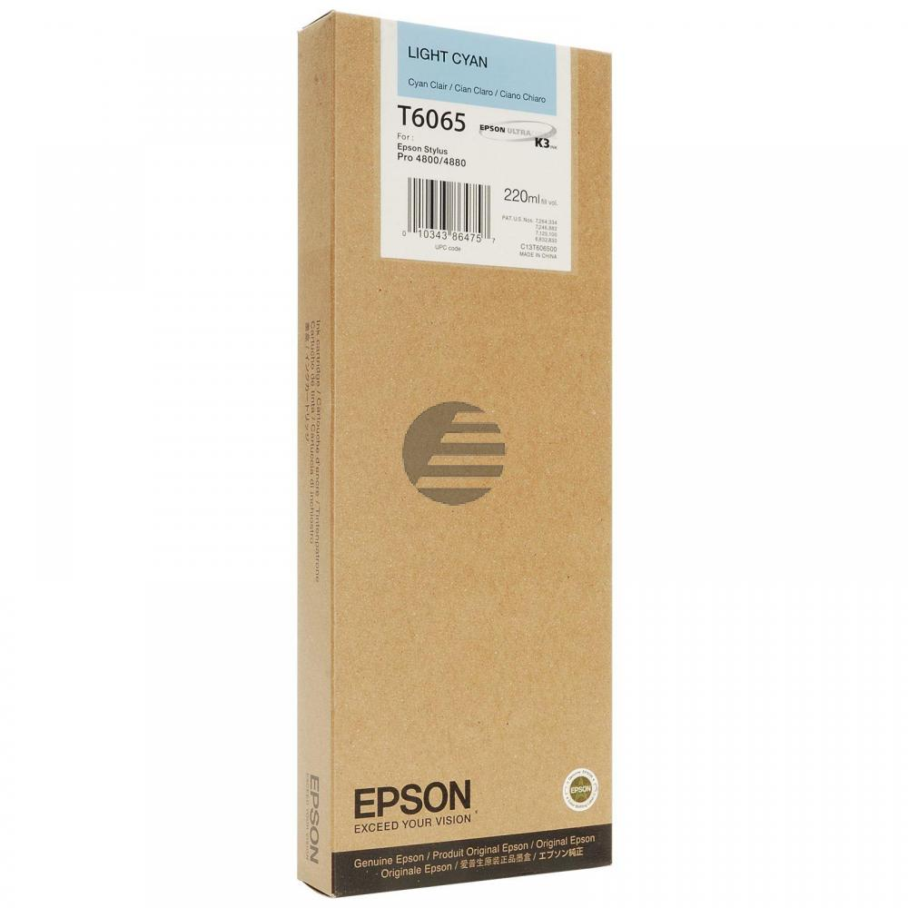Epson Tintenpatrone cyan light HC (C13T606500, T6065)