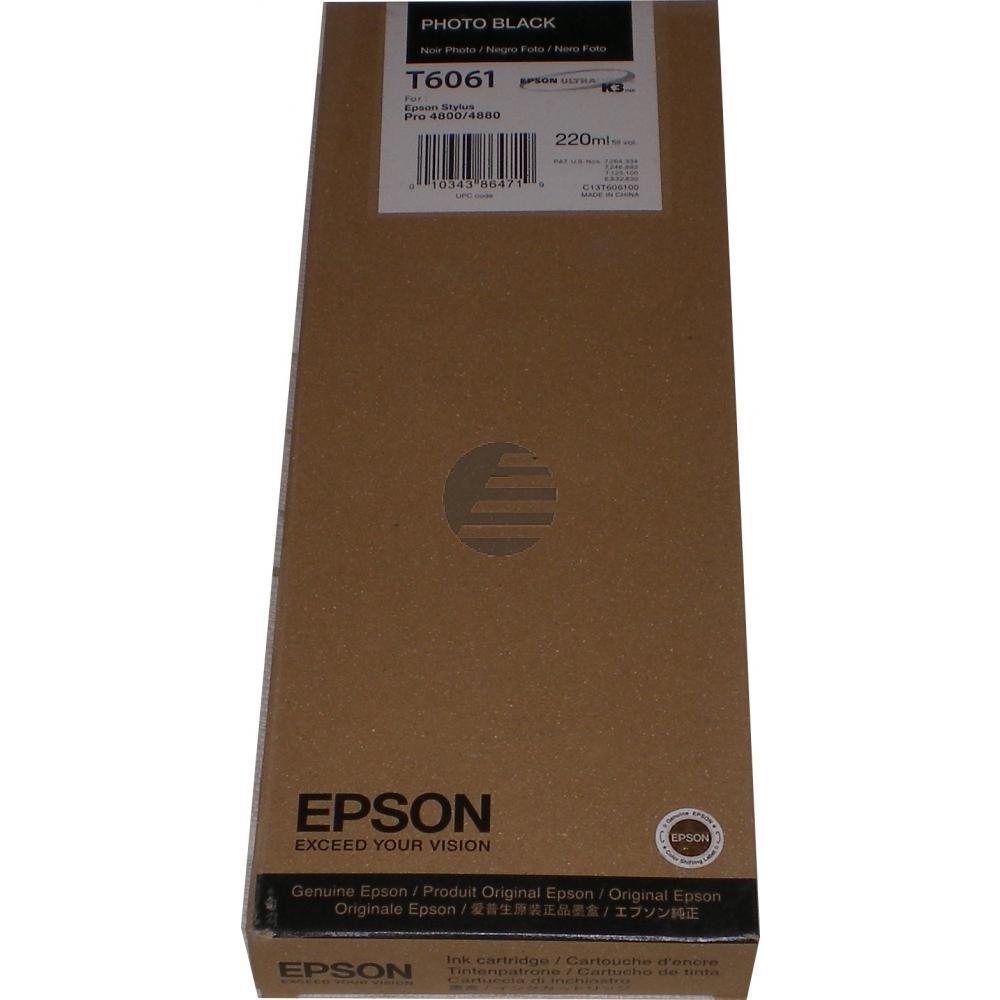 Epson Tintenpatrone photo schwarz HC (C13T606100, T6061)