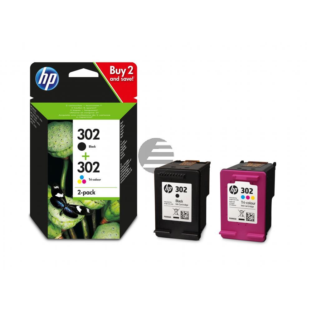 HP Tintendruckkopf cyan/gelb/magenta, schwarz (X4D37AE, 302)