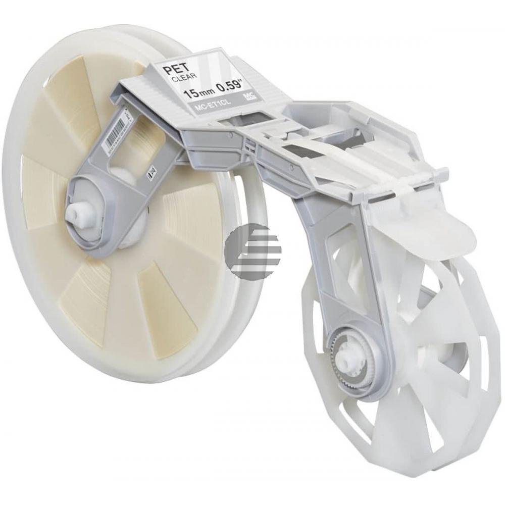Brother Plastik Filmbandkassette (PP) Selbstklebend transparent (MC-ET1CL)