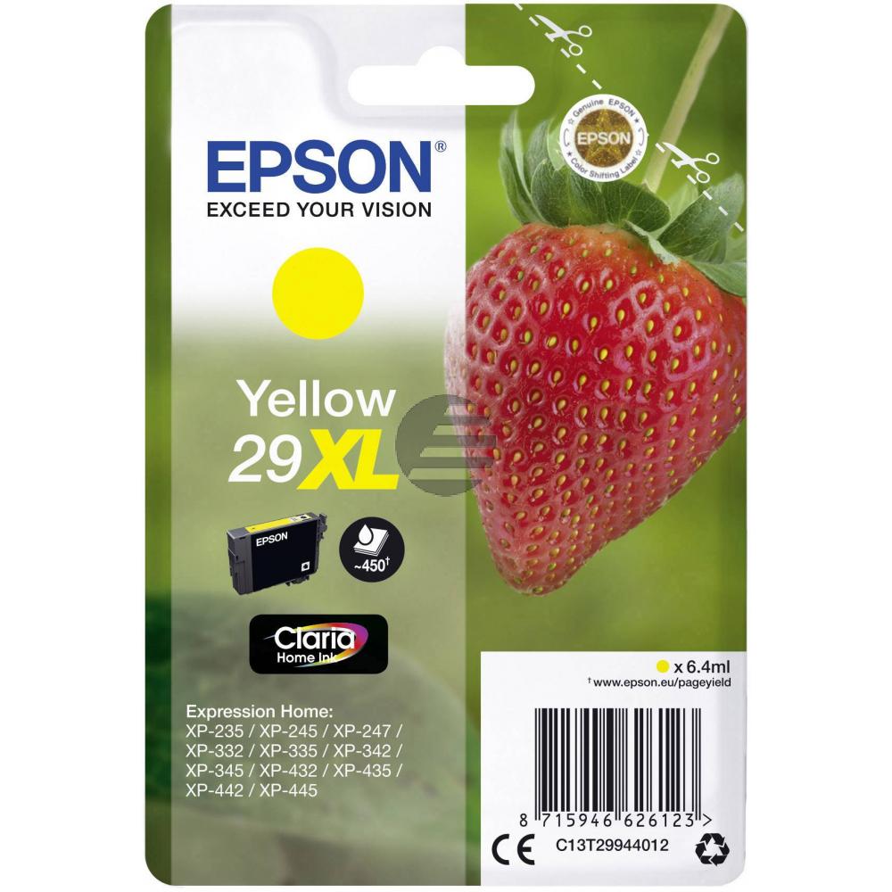Epson Tintenpatrone gelb HC (C13T29944012, T2994)