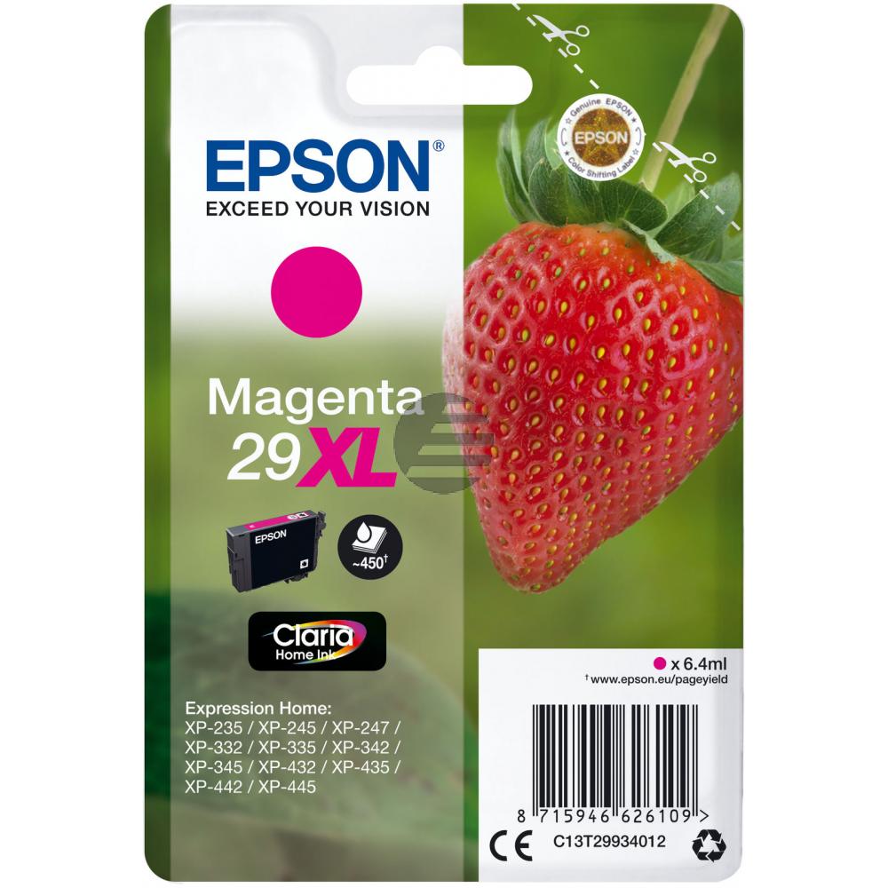 Epson Tintenpatrone magenta HC (C13T29934012, T2993)