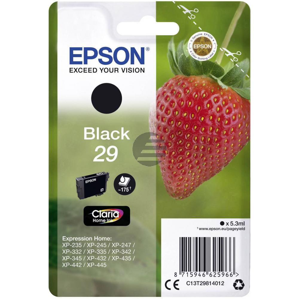Epson Tintenpatrone schwarz (C13T29814012, T2981)