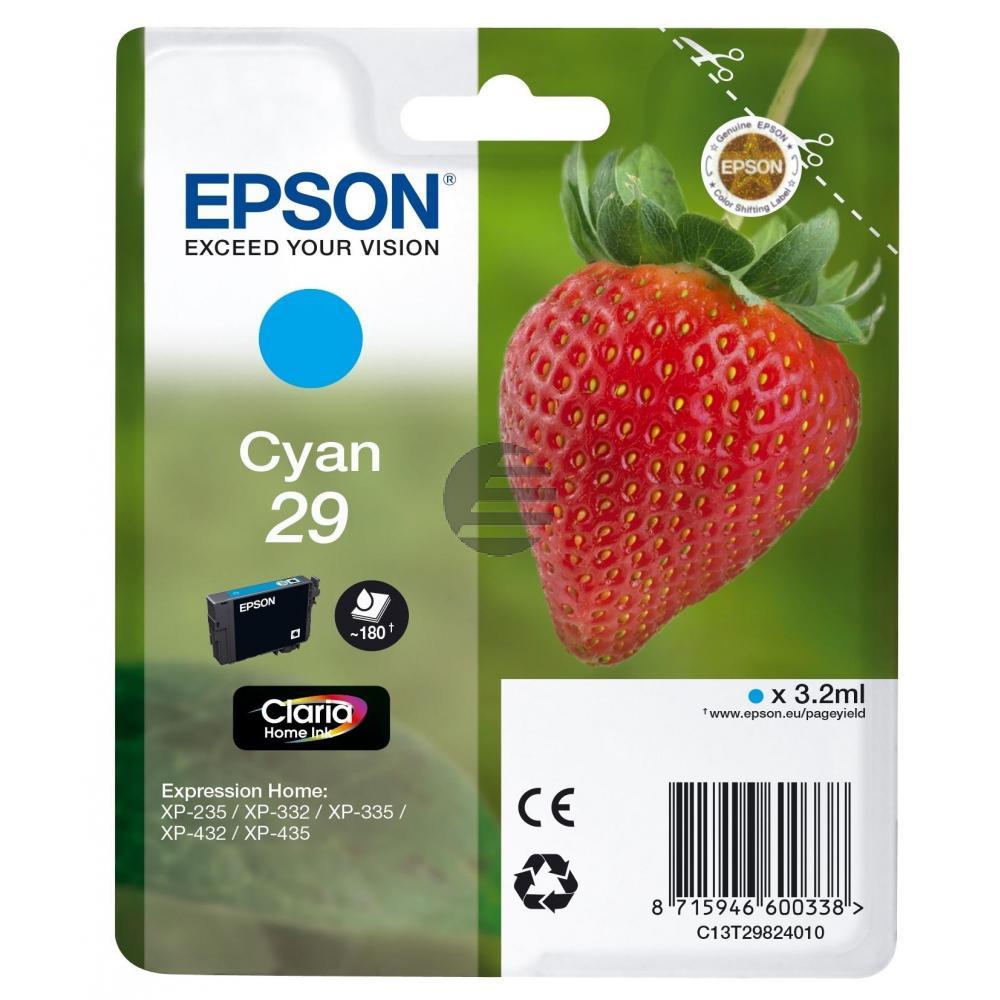 Epson Tintenpatrone cyan (C13T29824012, T2982)