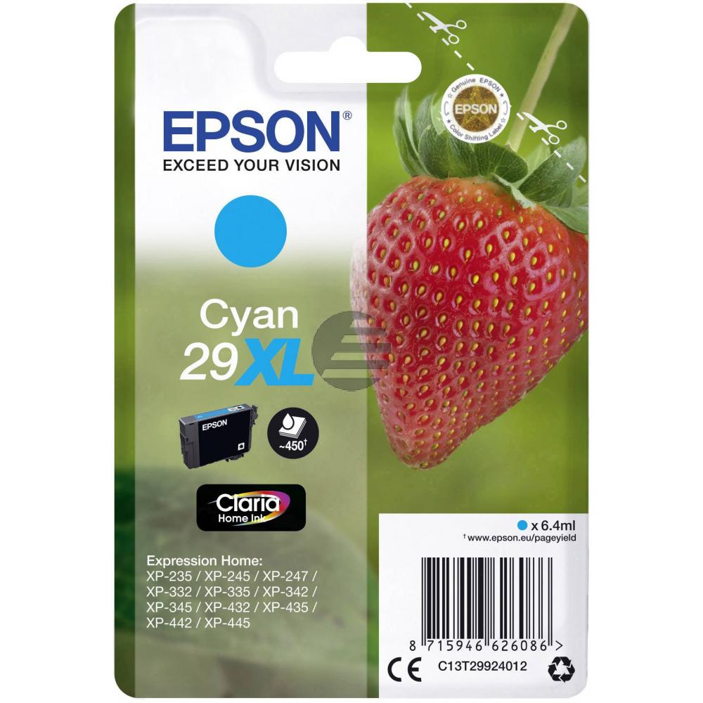 Epson Tintenpatrone cyan HC (C13T29924012, T2992)