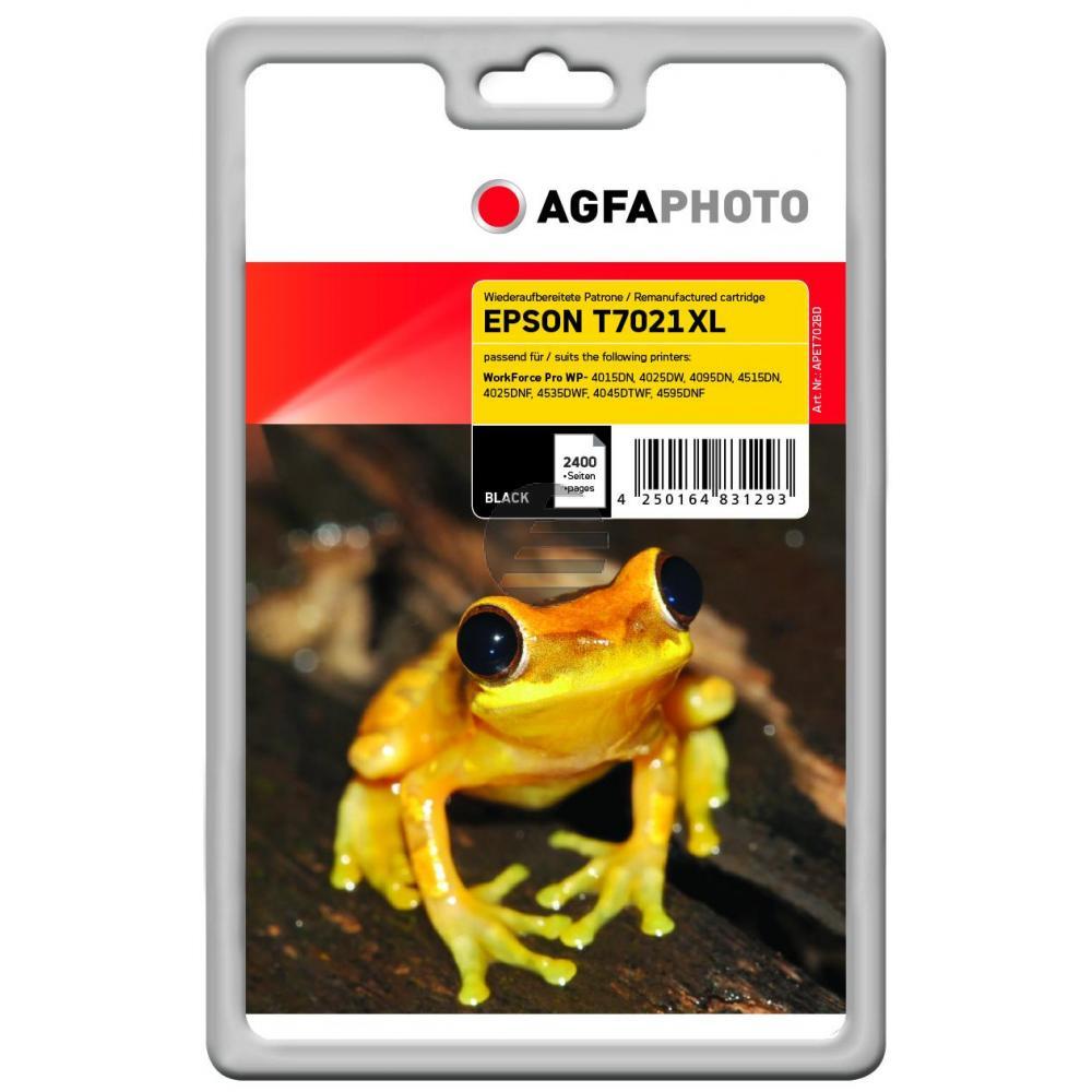 Agfaphoto Tintenpatrone schwarz HC (APET702BD) ersetzt T7021