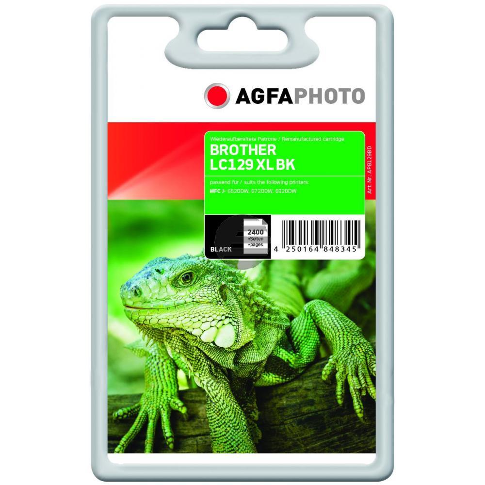 Agfaphoto Tintenpatrone schwarz (APB129BD) ersetzt LC-129XLBK