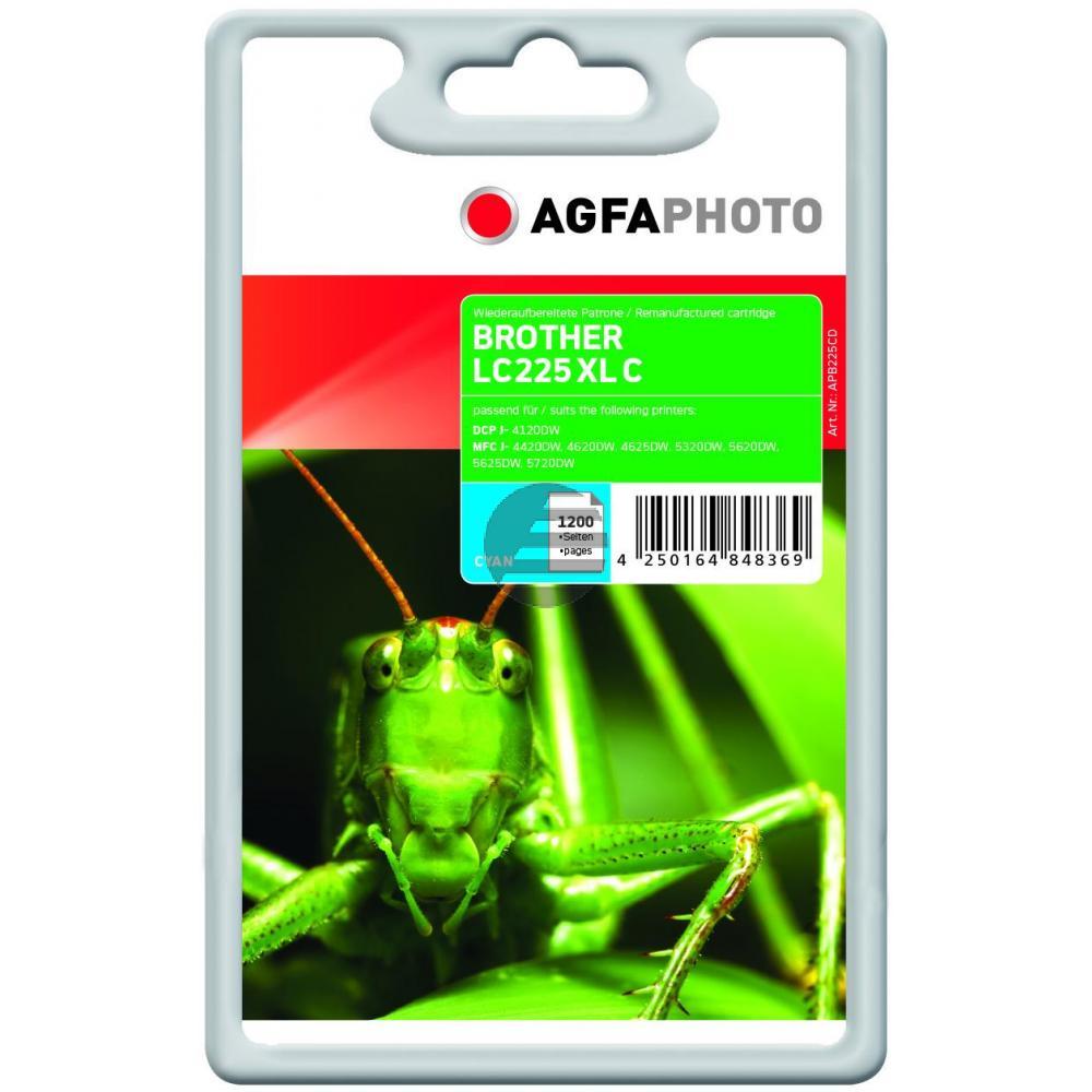 Agfaphoto Tintenpatrone cyan (APB225CD) ersetzt LC-225XLC