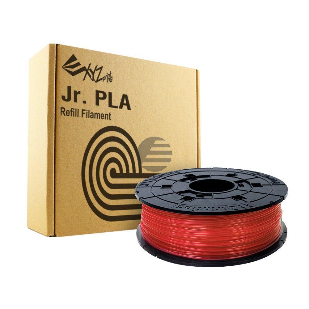 PLA FILAMENT JUNIOR CLEAR RED RFPLCXEU02A 1.75mm 600gr