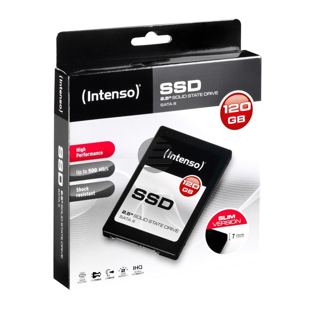 INTENSO 2.5 SSD FESTPLATTE INTERN 120GB 3813430 SATA III HIGH