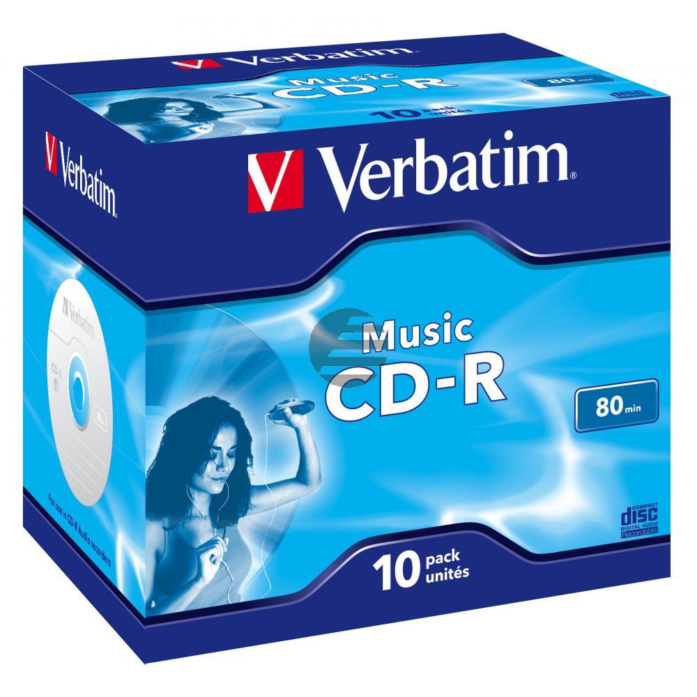 VERBATIM AUDIO CDR80 700MB 16x (10) JC 43365 Jewel Case