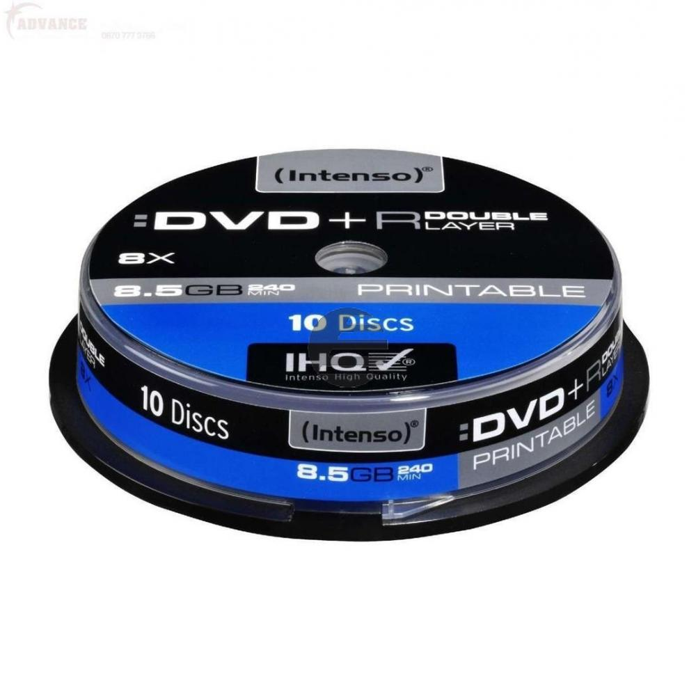 INTENSO DVD+R 8.5GB 8x (10) CB 4381142 Cake Box bedruckbar