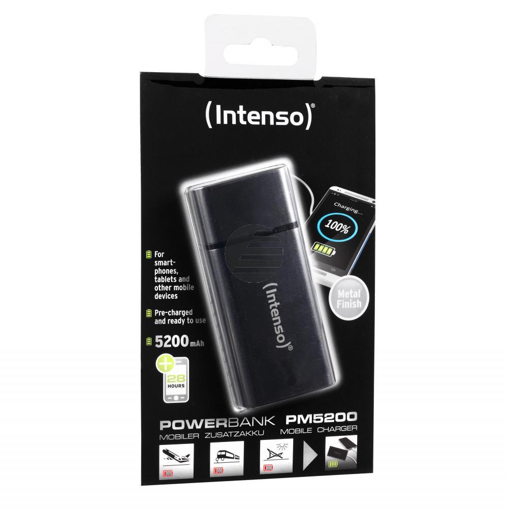 INTENSO POWERBANK PM5200 METAL FINISH 7323520 5200mAh schwarz