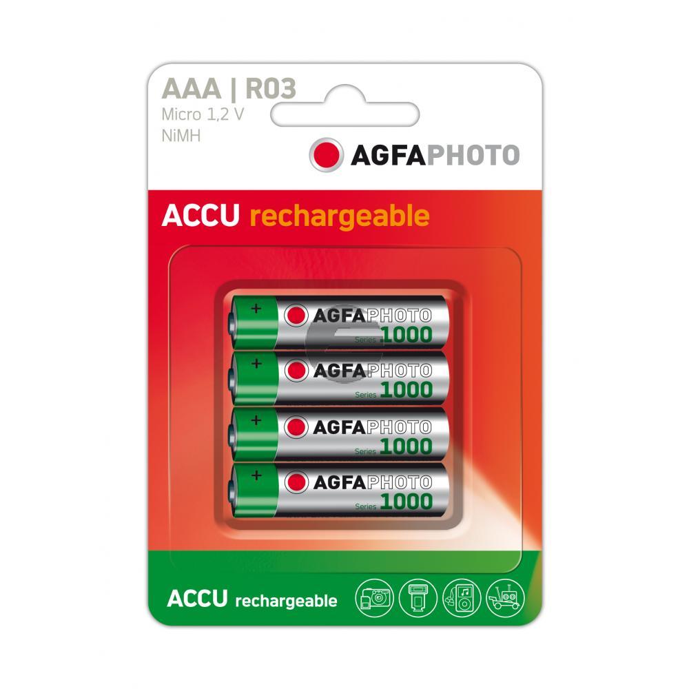 131-802756 AP MICRO BATTERIEN (4) HR03 NiMh-Accu 900mAh AAA