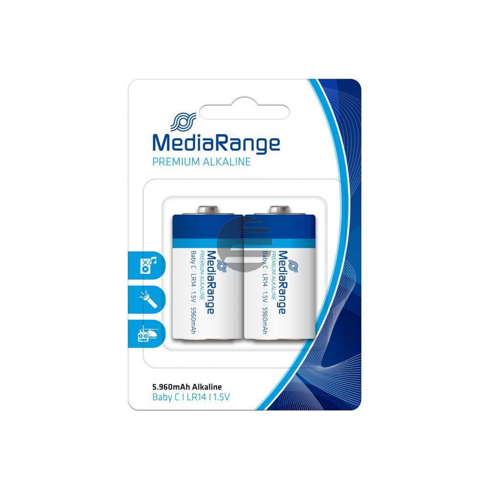 MEDIARANGE PREMIUM BATTERIEN (2) 1,5V MRBAT108 LR14 Alkaline BABY C
