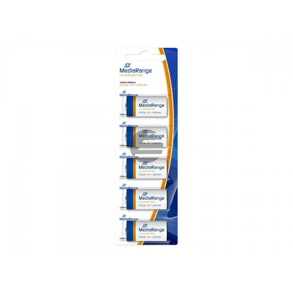 MEDIARANGE CR123A BATTERIEN (5) 3V MRBAT150 Lithium Knopfzellen
