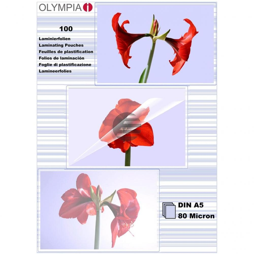 9167 OLYMPIA LAMINIERFOLIEN A5 100Blatt 80mic