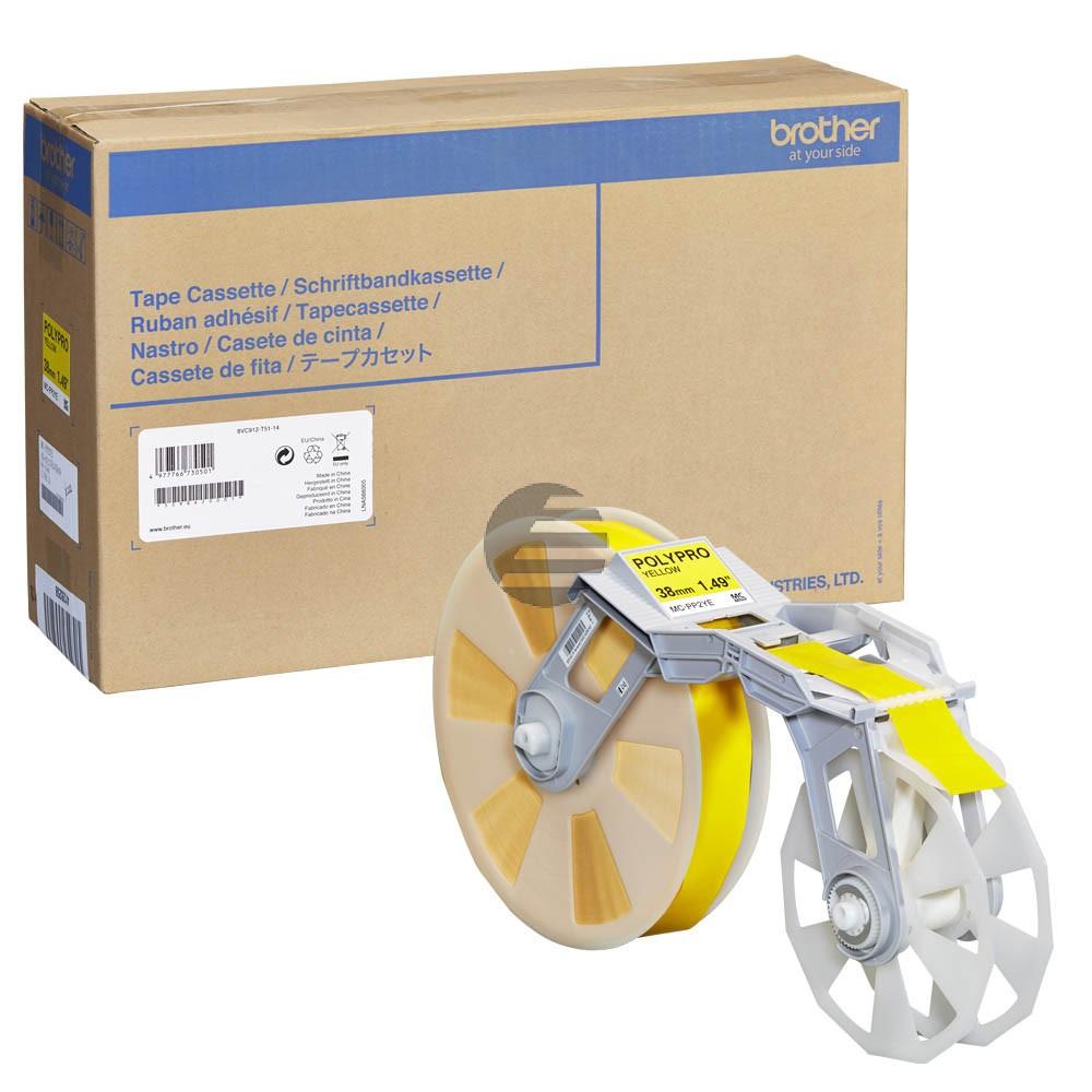 Brother Plastik Filmbandkassette (PP) gelb (MC-PP2YE)