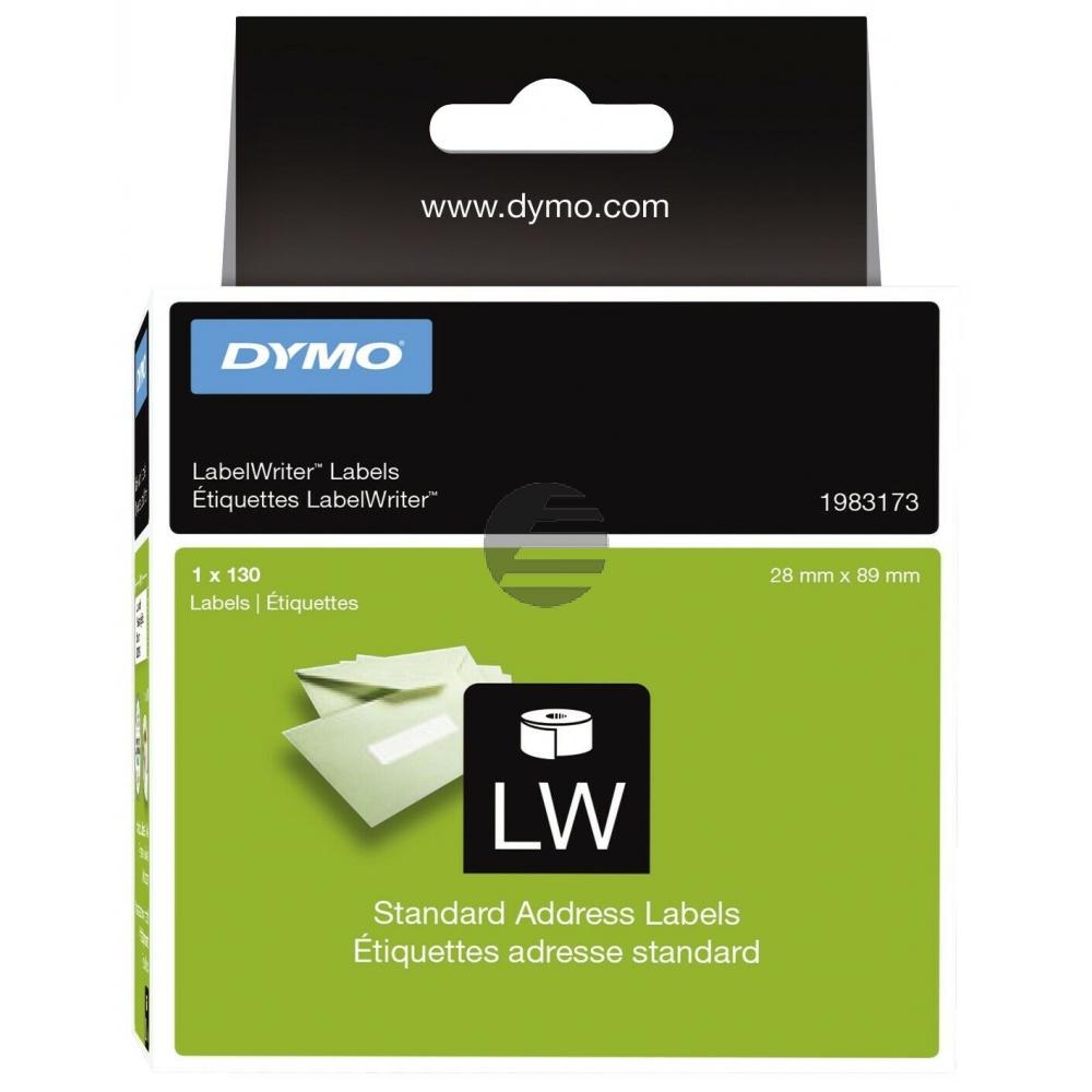 1983173 DYMO 28x89mm WEISS 1Rl/130Stk LW Adress-Etiketten