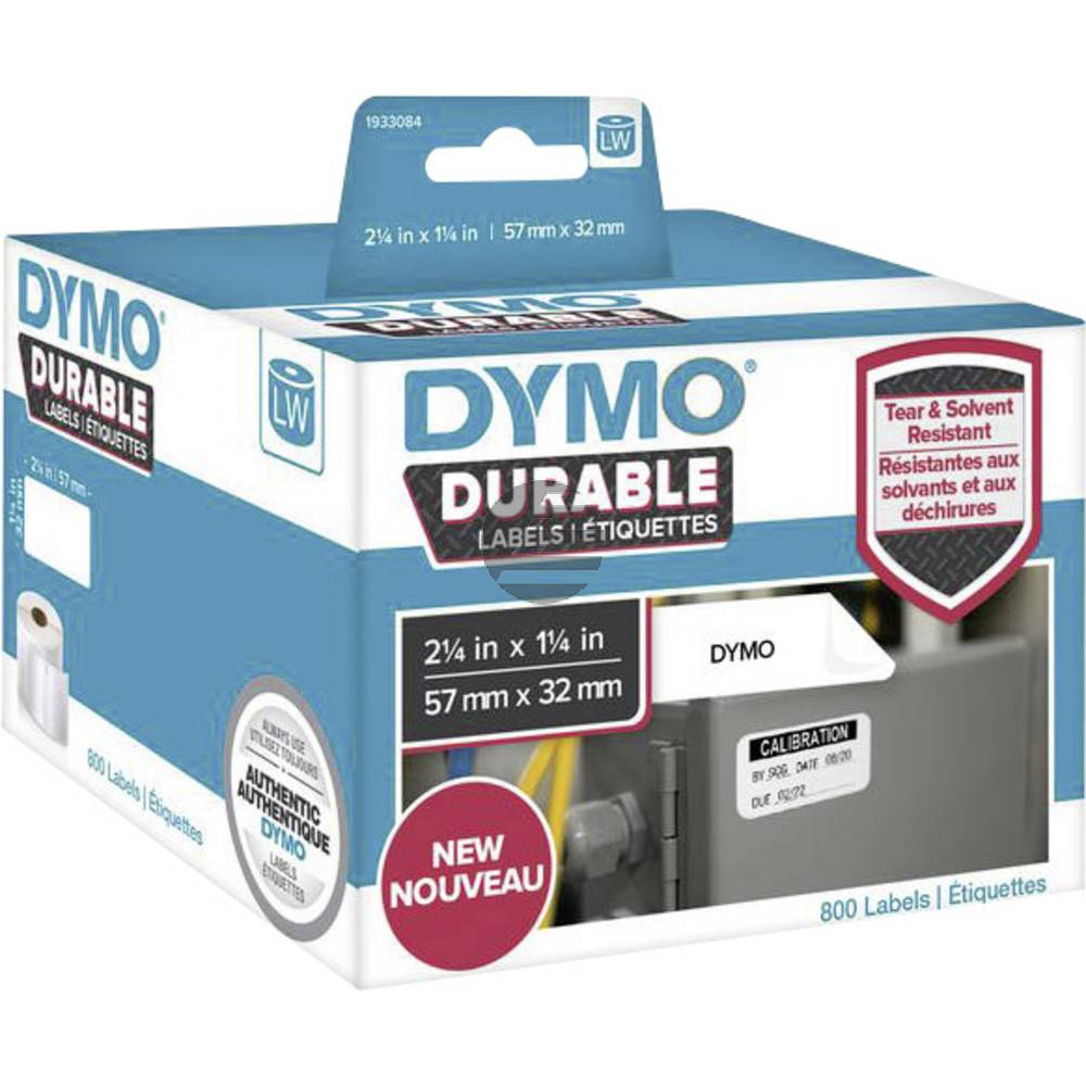1933084 DYMO 57x32mm WEISS KUNSTSTOFF 1Rl/800Stk LW Adress-Etiketten permanent