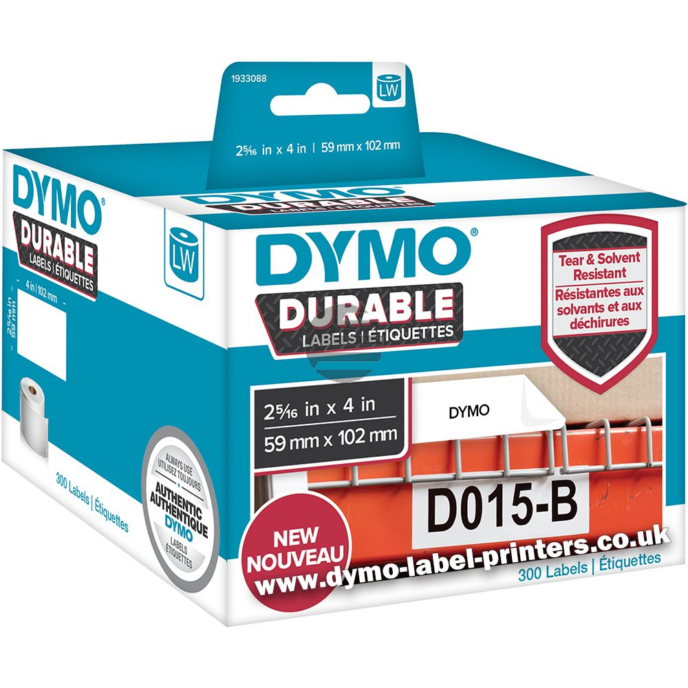 1933088 DYMO 59x102mm WEISS KUNSTSTOFF 1Rl/300Stk LW Adress-Etiketten permanent